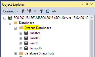 SQL Server system databases 101 – SQLDoubleG